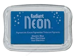Inks Sale: Tsukineko Radiant Neon Pigment Ink Pad Large Electric Blue