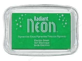 Stamping Ink Pads Holiday Sale: Tsukineko Radiant Neon Pigment Ink Pad Large Electric Green
