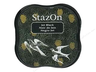 StazOn Midi Solvent Ink Pad Jet Black