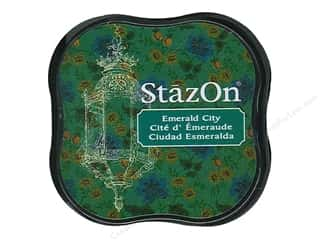 StazOn Midi Solvent Ink Pad Emerald City