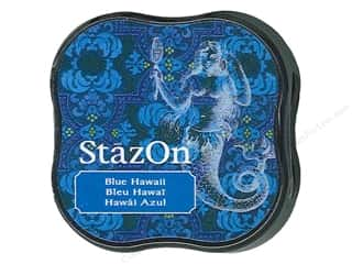 Stamping Ink Pads Blue: Tsukineko StazOn Midi Solvent Ink Stamp Pad Blue Hawaii