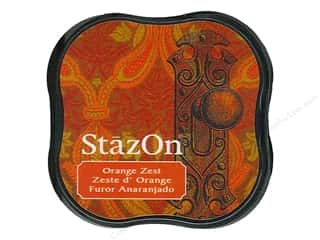 Stamping Ink Pads Clear: Tsukineko StazOn Midi Solvent Ink Stamp Pad Orange Zest