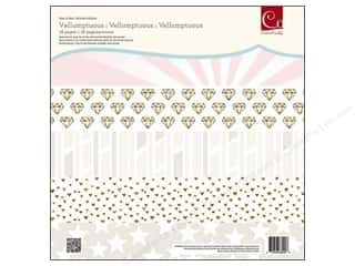 "Love & Romance Scrapbooking & Paper Crafts: Cosmo Cricket Paper Deck 12""x 12"" Vellumptuous"