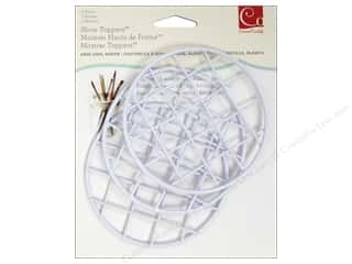 Jars New: Cosmo Cricket Embellishment Show Toppers Grid Lids 3pc White
