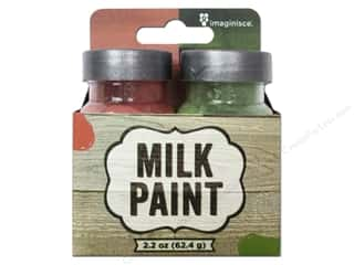 Stencils New: Imaginisce Paint Milk Combo Red/Green