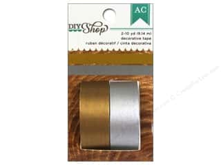 Washi Tape: American Crafts Washi Tape DIY Shop Metallic Gold & Silver
