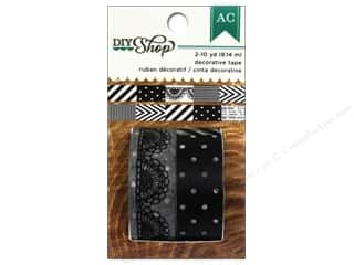 Patterns $6 - $8: American Crafts Washi Tape DIY Shop Black & White 6 in. Pattern Repeat