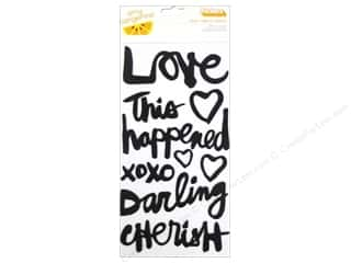 phrase stickers: Thickers Stickers Amy Tangerine Plus One Phrase Black