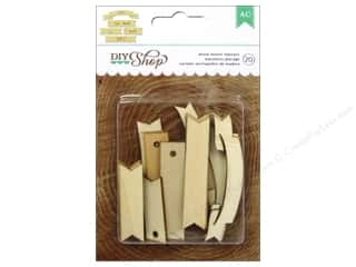 American Crafts DIY Shop Wood Veneer Shapes Banners