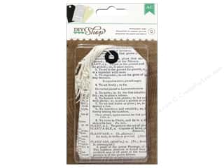 American Crafts DIY Shop Tags 12 pc. Newsprint
