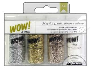 Glitter Brown: American Crafts Wow! Glitter Extra Fine  4 pc. DIY Shop