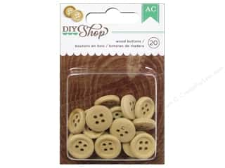 American Crafts Buttons DIY Shop Wood