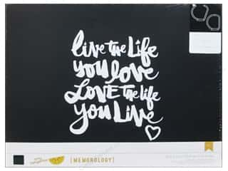 photo paper dimension: American Crafts 3-Ring Album 12 x 12 in. Amy Tangerine Plus One Live Life