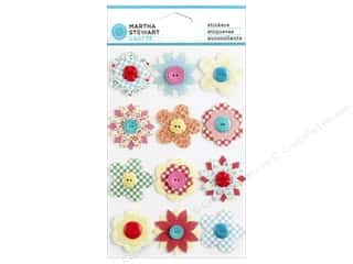 Flowers Buttons: Martha Stewart Sticker Stitched Button Flower