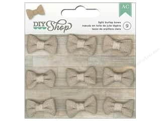 American Crafts DIY Shop Burlap Bows 9 pc. Light