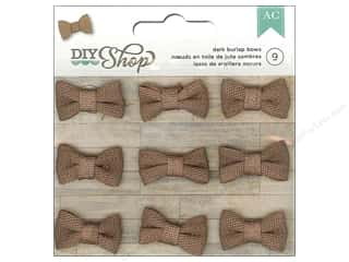 American Crafts DIY Shop Burlap Bows 9 pc. Dark