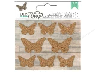 American Crafts Cork Stickers DIY Shop Butterflies
