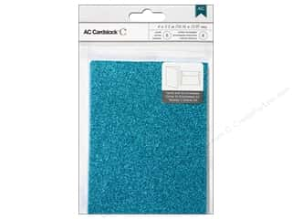 American Crafts Cards & Envelopes 8 pc. Glitter Peacock
