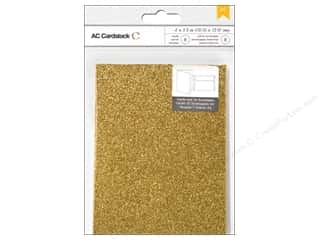 card & envelopes: American Crafts Cards & Envelopes 8 pc. A2 Glitter Sunflower