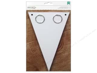 chipboard shapes: American Crafts Pennant Banner 6 x 9 in. White
