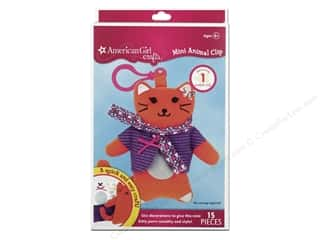 Animals Kids Crafts: American Girl Kit Mini Animal Clip Cat