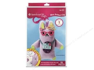 Doll Making Crafts with Kids: American Girl Kit Mini Animal Clip Bunny