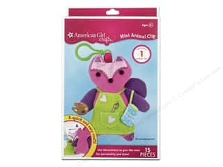 Dolls and Doll Making Supplies: American Girl Kit Mini Animal Clip Fox
