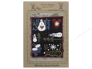 Hearts Winter: Wooden Spool Designs Snow Happy Pattern