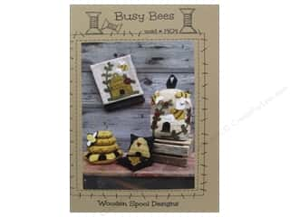 Felt Home Decor: Wooden Spool Designs Busy Bees Pattern