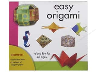 Sheet Vinyl Books & Patterns: Sterling Easy Origami Paper & Book