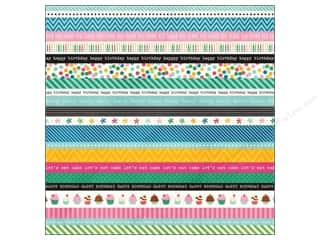 "Pebbles Inc Tapes: Pebbles Paper 12""x 12"" Birthday Wishes Washi (15 pieces)"