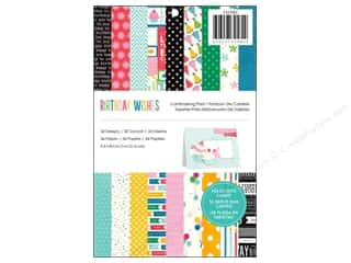 "Pebbles Inc 5"": Pebbles Paper Pad Birthday Wishes 5.5""x 8.5"" Cardmaker"