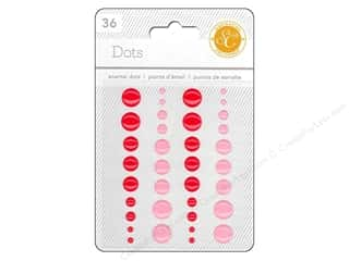 Studio Calico Sticker Essentials Enamel Dots Red/P