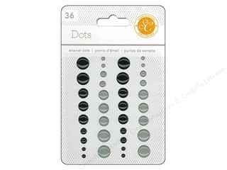 Jewel Craft Black: Studio Calico Stickers Essentials Enamel Dots Black/Grey