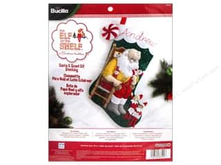 Weekly Specials Bucilla Beginner Cross Stitch Kit: Bucilla Elf On The Shelf Stocking Kit 18 in. Santa