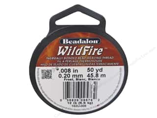 "Jewelry Making Supplies 12"": Beadalon Wildfire Bead Thread .20 mm Frost 50 yd."