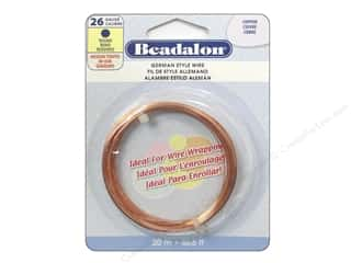 beadalon copper wire: Beadalon German Style Wire 26ga Round Copper 65.6 ft.