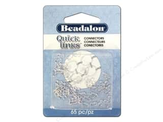Beadalon Jump Rings/Spring Rings: Beadalon Quick Links Connectors Small Silver 65 pc.