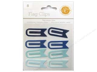 School Craft Embellishments: Studio Calico Embellishments Essentials Flag Paper Clips Blue/Aqua