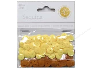 Sequins 8mm: Studio Calico Embellishments Essentials Sequins 8mmYellow/Orange