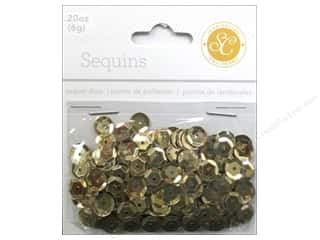 Sequins 8mm: Studio Calico Embellishments Essentials Sequins 8mm Gold
