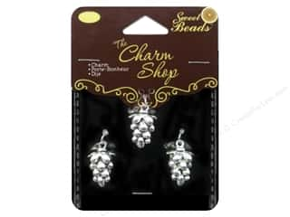 Clearance Sweet Beads: Sweet Beads Charms Metal Grapes 3 pc. Silver