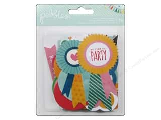 Party & Celebrations Projects & Kits: Pebbles Embellishment Birthday Wishes Die Cut Cardstock Shapes