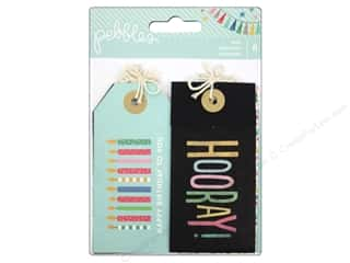 Happy Lines Gifts Orange: Pebbles Embellishment Birthday Wishes Tags