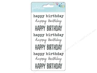 Pebbles Inc Rub-Ons: Pebbles Rub On Birthday Wishes Happy Birthday Black