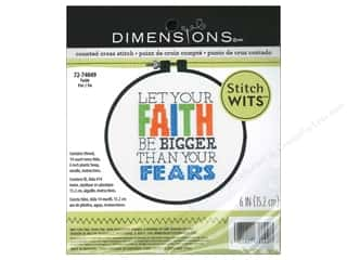 Stitchery, Embroidery, Cross Stitch & Needlepoint Burgundy: Dimensions Cross Stitch Kit Wits Faith