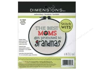 Clearance Blumenthal Favorite Findings: Dimensions Embroidery Kit Stitch Wits Grandma