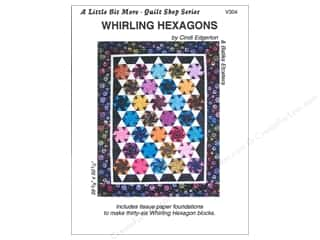 Hearthsewn Patterns Summer Fun: A Very Special Collection A Little Bit More Whirling Hexagons Pattern