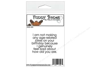 Boning $2 - $3: Riley & Company Cling Stamps Funny Bones Age Related Joke