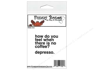 Rubber Stamping Brown: Riley & Company Cling Stamps Funny Bones Depresso